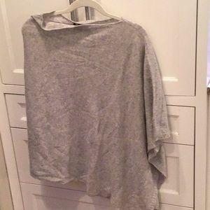 Cashmere wrap/ poncho, grey
